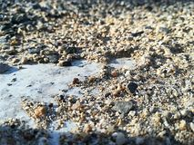 White sand royalty free stock image
