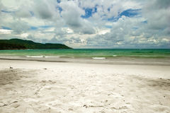 White sand tropical beach Stock Images