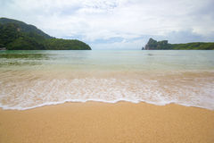 White sand tropical beach Koh Phi Phi island. Royalty Free Stock Photos