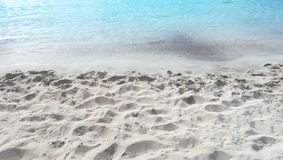 White sand and turquoise sea stock images