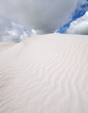 White Sand in Wedge Island Australia. Sand dune and dramatic cloud in Wedge Island, Western Australia royalty free stock image