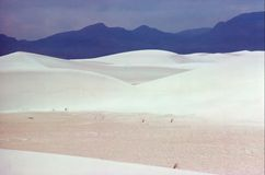 WHITE SANDS. Largest gypsum dune field in world in New Mexico Royalty Free Stock Photography