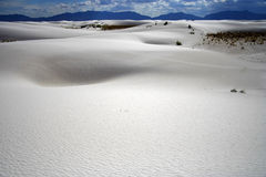 White Sands. Dune formations in White Sands National Monument Stock Image