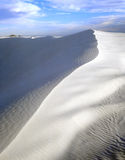 White Sands Afternoon. The ridge of a white sand dune in White Sands National Monument Royalty Free Stock Image