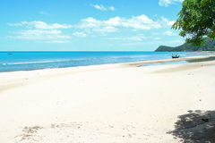 White sands beach and clouds horizon blue sky. In Thailand Royalty Free Stock Image