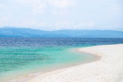 White Sands Beach in Moalboal, Philippines. Moalboal is a small town on the South-West side of Cebu island, Philippines Stock Image
