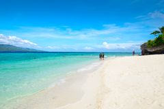 White Sands Beach in Moalboal, Philippines. Moalboal is a small town on the South-West side of Cebu island, Philippines Stock Photos