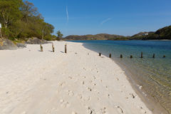 White Sands beach Morar Scotland beautiful Scottish sandy beach on the coastline from Arisaig to Morar south of Mallaig. Silver Sands of Morar beautiful Scotland Stock Photo