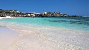White sands beach Rottnest Island Western Australia stock images