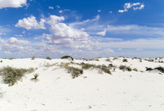 White Sands - Blue sky. Dune in the White Sands National Monument in New Mexico, USA Stock Images