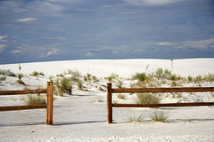White Sands Hiking Royalty Free Stock Photos