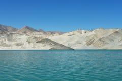 White Sands lake Stock Photo