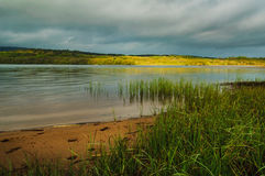 White Sands, Lough Graney. White Sands Lough Graney County Clare East Ireland Lake shore Overcast sky Stock Images