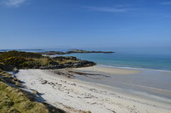 White sands of Morar Stock Photo