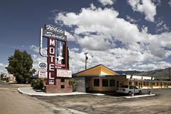 White sands motel vacancy. In the USA royalty free stock photo