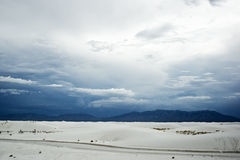 White Sands National Monument on a Cloudy Day Royalty Free Stock Photography