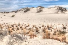 White Sands National Monument is Located in New Mexico and is On royalty free stock photography