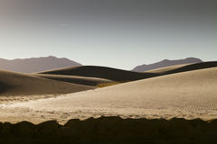 White Sands National Monument Panorama. Late afternoon at White Sands National Monument in White Sands, New Mexico, United States of America Stock Photos