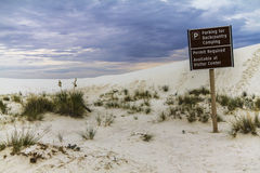White sands National Monument before storm Stock Photos
