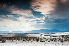 White Sands National Park, White Sands New Mexico stock photography