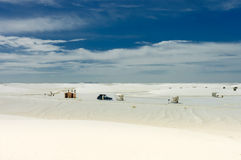 White Sands National  Parks Stock Photo