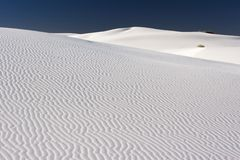 White Sands of New Mexico. A dark sky over the White Sands National Monument, New Mexico, USA stock image