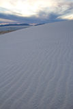White Sands New Mexico. A dune in White Sands New Mexico at sunset Stock Images