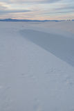 White Sands New Mexico. A dune in White Sands New Mexico at sunset Royalty Free Stock Photography