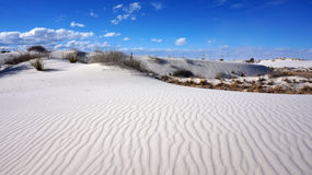 White Sands, New Mexico. The White Sands desert is located in Tularosa Basin New Mexico royalty free stock image