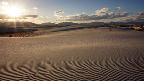 White Sands, New Mexico. The White Sands desert is located in Tularosa Basin New Mexico stock image