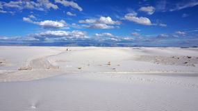 White Sands, New Mexico. The White Sands desert is located in Tularosa Basin New Mexico royalty free stock photo