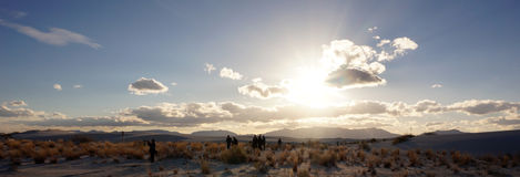 White Sands, New Mexico. The White Sands desert is located in Tularosa Basin New Mexico stock photo