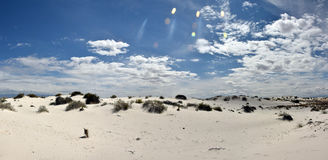 White sands in New Mexico Royalty Free Stock Photography