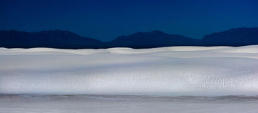 White Sands New Mexico at night Stock Photo