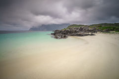 White sands in Northern Norway Stock Images