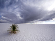 White Sands Rain Clouds, New Mexico Stock Photography