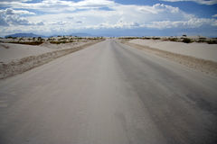 White Sands Roadway Royalty Free Stock Images