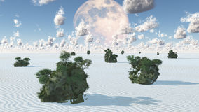 White Sands Rock Islands Oasis Royalty Free Stock Photography