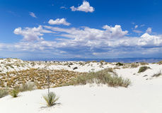 White Sands scenic view. Scenic view of a part of the White Sands National Monument dunefield in New Mexico, USA Royalty Free Stock Images