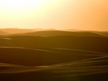 White sands solnedgång Arkivbild