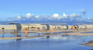 White Sands after the Storm Stock Photography