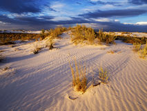 White Sands Sunset, New Mexico Royalty Free Stock Photos