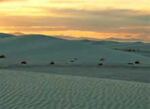 White Sands Sunset Royalty Free Stock Photo