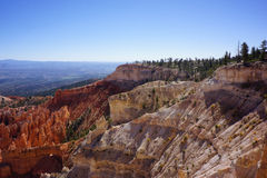 White Sandstone Cliffs of Bryce Canyon Stock Photos