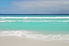 White Sandy Beach Royalty Free Stock Photography