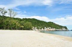 White sandy beach Royalty Free Stock Photography