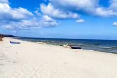 White sandy beach at the Baltic Sea Stock Photos