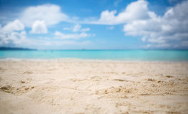White sandy beach Stock Photos