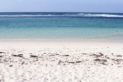 White sandy beach and blue ocean, Fitzgerald Coast in Munglinup, Western Australia Royalty Free Stock Images