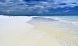 White sandy beach . Royalty Free Stock Images